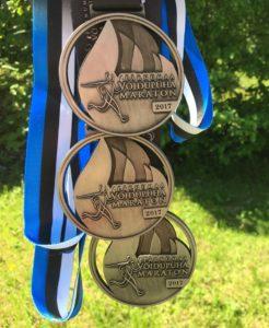 Pärnumaa Võidupüha maratoni medal 2017
