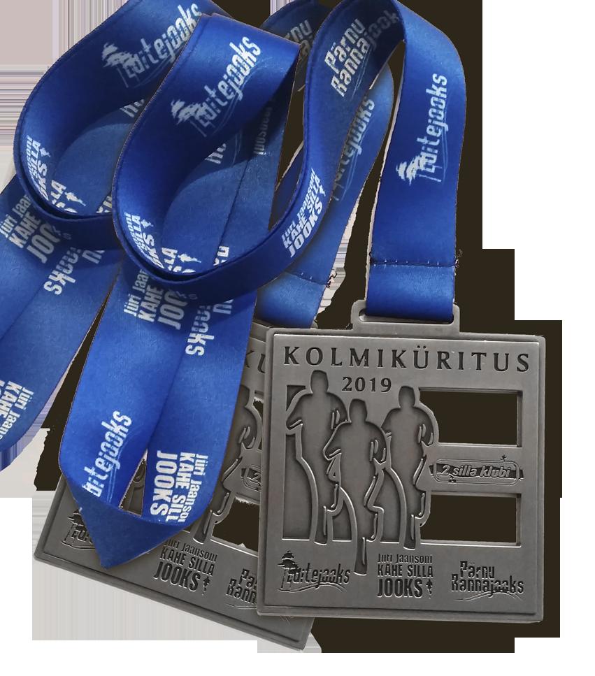 Kahe Silla klubi kolmiküritus_medal 2019